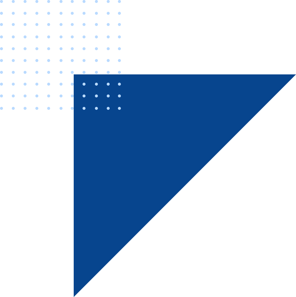 Blue triangle dots