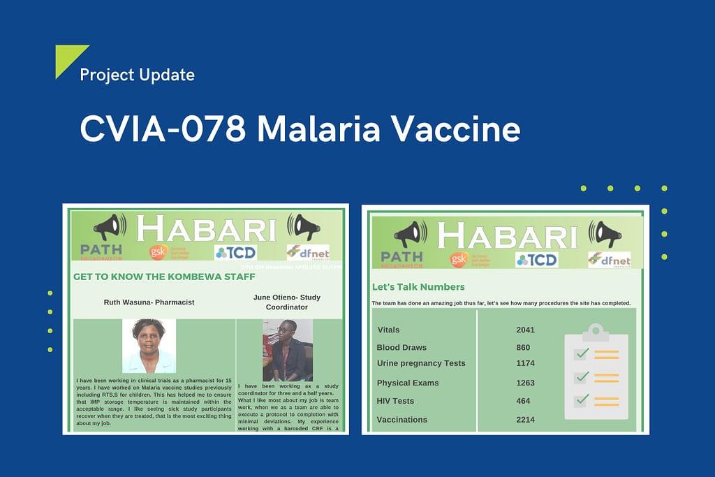 Project Update - Malaria Vaccine